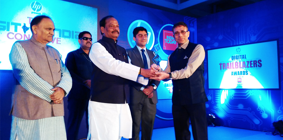 Digital Trail Blazers Awards To Director JSAC by Hon'ble Chief Minister of Jharkhand