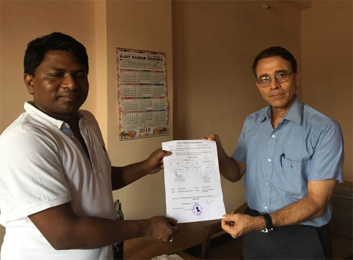 Handing Over land to Director JSAC
